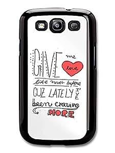 Ed Sheeran Give Me Love Lyrics case for Samsung Galaxy S3