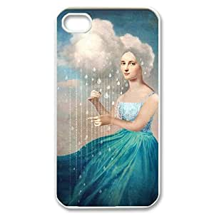 LASHAP Phone Case Of Oil painting girl,Hard Case !Slim and Light weight and won't fade, Scratch proof and Water proof.Compatible with All Carriers Allows access to all buttons and ports. for LASHAP 4/4S