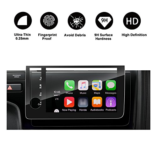 Special for 2018 Fit Touchscreen Car Display Navigation Screen Protector, R RUIYA HD Clear Tempered Glass Protective Film Against Scratch High Clarity