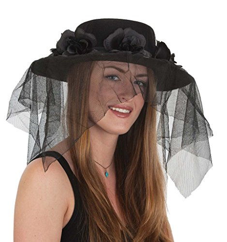 Hat With Veil (Black Spanish Hat With Veil)