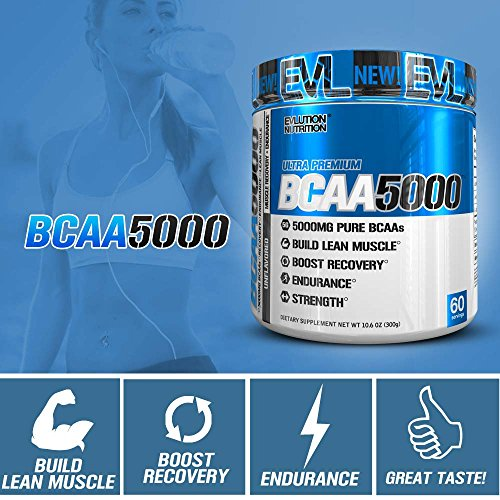 Evlution Nutrition BCAA5000 Powder 5 Grams of Premium BCAAs (Unflavored, 60 Serving) by Evlution (Image #4)