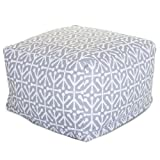 Majestic Home Goods Aruba Ottoman, Large, Gray