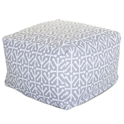 Majestic Home Goods Aruba Ottoman, Large, Gray by Majestic Home Goods