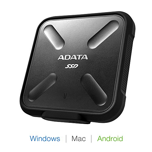ADATA SD700 3D NAND 1 TB Ruggedized Water/Dust/Shock Proof External Solid State Drive Black (ASD700-1TU3-CBK) by ADATA (Image #2)