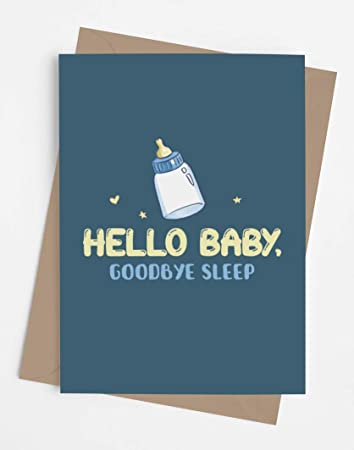 New Parent Gift New Mom Gift Gift for A New Mom Baby Shower Gift Gift for New Parents New Baby Gift For New Dad Funny  Baby GoodBye Sleep