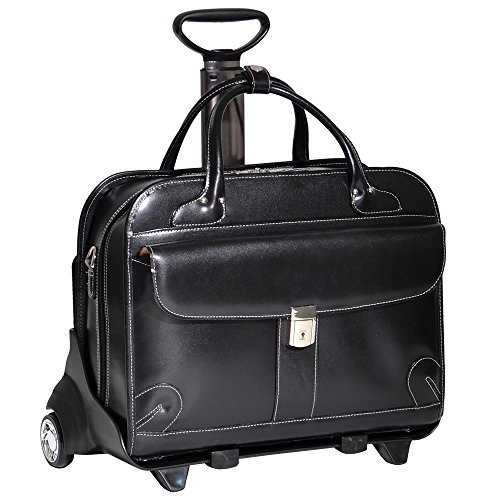 McKleinUSA LAKEWOOD 96615 Black Leather Fly-Through Checkpoint-Friendly Detachable-Wheeled Ladies' Briefcase by McKleinUSA (Image #9)