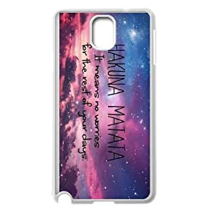 WANGLI Phone case Style-Case-15 -Best Wishes - Hakuna Matata Quotes Protective Back Case For Samsung Galaxy NOTE4 Case Cover