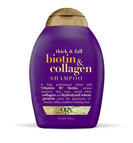Organix Biotin and Collagen Shampoo, 13-Ounce