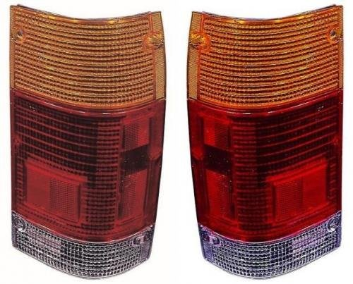 Go-Parts PAIR/SET OE Replacement for 1986-1987 Mazda B2000 Tail Lights Lens - Left & Right (Driver & Passenger) Side For Mazda B2000 ()