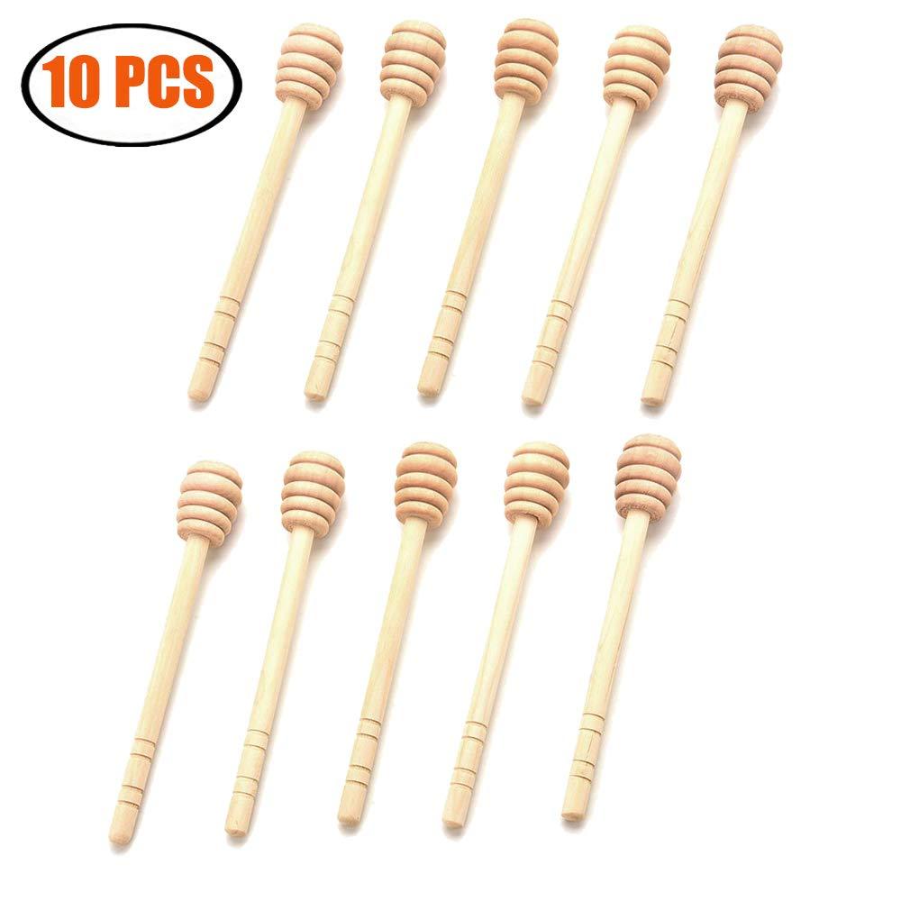 ARTEM Wooden Honey Stirring Stick,Dipping Bar,Dipstick,Coffee Milk Tea Stir Stick,Jam Stir Bar for Home Party Supply 10Pcs 6.25Inch