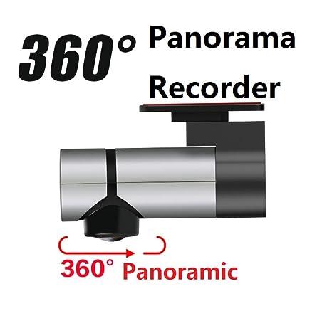 AMYMGLL Nuevo grabador de coche Lente única Grabador panorámico de 360 ??grados Visión nocturna de ...