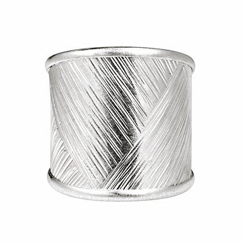 AeraVida Modern Zigzag Textures Thai Karen Hill Tribe Fine Silver Ring (7)