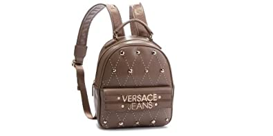 33ac6bbdac25 Image Unavailable. Image not available for. Color  Versace EE1VSBBE7 E148 Taupe  Backpack for Womens