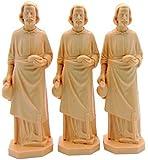 3 X St Joseph Statue Home Seller Faith Saint House 3.5 Inch Figurine NEW