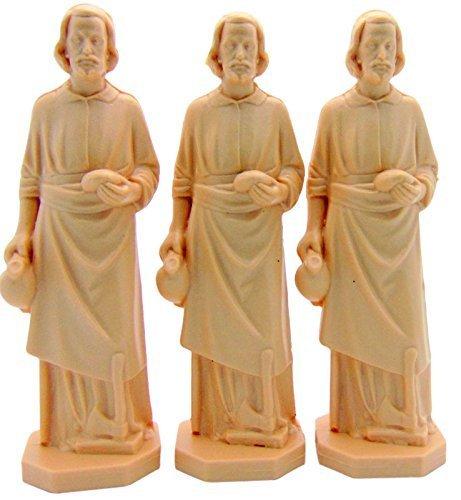 (3 X St Joseph Statue Home Seller Faith Saint House 3.5 Inch Figurine NEW)