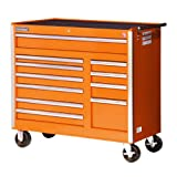 International VRB-4211OR 42-Inch 11 Drawer Orange Tool Cabinet with Heavy Duty Ball Bearing Slides