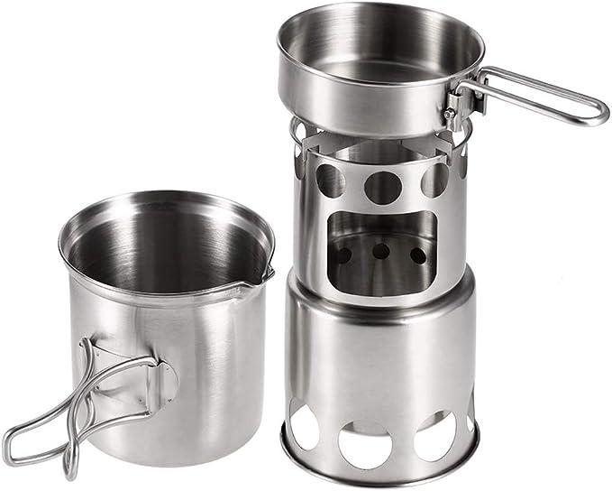 Aniuxiaege, juego de utensilios de cocina de acero inoxidable para ...