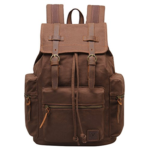 Hynes Eagle Vintage Canvas Backpack Travel Rucksack for sale  Delivered anywhere in USA