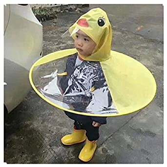 new style of 2019 new arrival discover latest trends Creative Yellow Duck Poncho Children's Raincoat UFO Rain Coat Cover Funny  Baby Kids Adult Outdoor Play Supplies