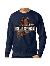 C2Ucdi Men's Harley Davidson Logo Hoodie
