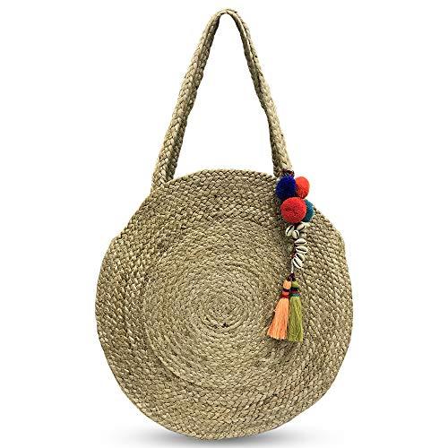 ZOI Handcrafted Jute Handbag for Women with designer Strap