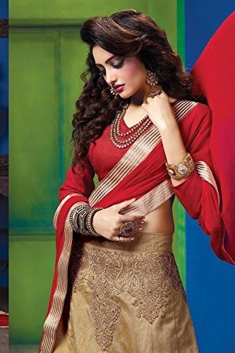 Indian Women Designer Wedding Beige Lehenga Choli Fabz-2609