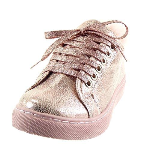 Pon A Da Donna Tacco 5 Angkorly 2 Blocco Moda Sneaker Scarpe Rosa Cm wHxXcxRq1