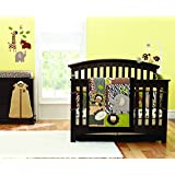Brown Elephant Embroidered 7pcs crib set Baby Bedding Set Crib Bedding Set Girl Boy Nursery Crib Bumper bedding