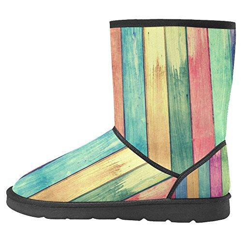 InterestPrint Womens Snow Boots Unique Designed Comfort Winter Boots Multi 34