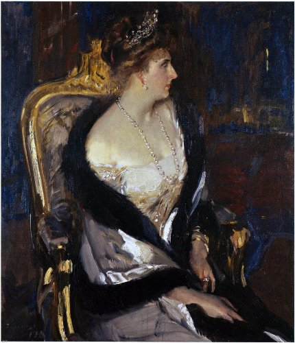 Joaquin Sorolla Y Bastida Queen Victoria Eugenia of Spain - 24'' x 30'' 100% Hand Painted Oil Painting Reproduction by Art Oyster