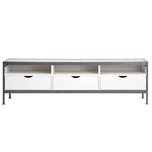 FurnitureR TV Modren diseño multi-storage largo mesa TV Soporte ...