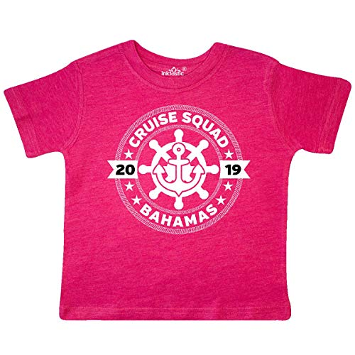inktastic - Bahamas Cruise 2019 Toddler T-Shirt 2T Retro Heather Pink 33715 ()