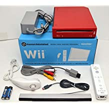 Nintendo Wii Limited Edition RED Video Game Console Home System RVL-001 GameCube