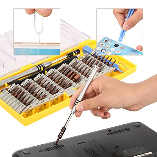 UnaMela 62 in 1 Precision Screwdriver Kit with 56 S2 Steel Magnetic Driver Kit and Flexible Spring Shaft,Professional Electronics Repair Tool Kit for Computer/Phone/Tablet/Game Console/Home Appliances by UnaMela (Image #4)