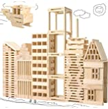 【 Alnair 】 知育 身につく力 平板 積み木 木材 収納袋付属 選べるPCS 知育玩具 木製玩具 木のおもちゃ 【送料無料】 (100PCS)