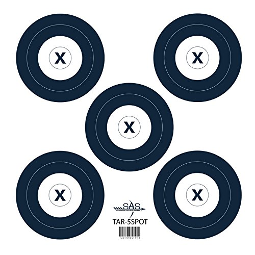 SAS 5-Spot Paper Target 18 in / 45 cm (Paper Archery Targets)