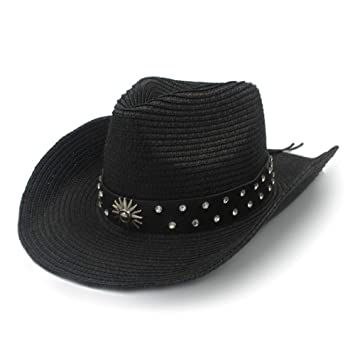 Sun Glower Sombrero Adulto Sombrero Vaquero de Paja para Hombre ...