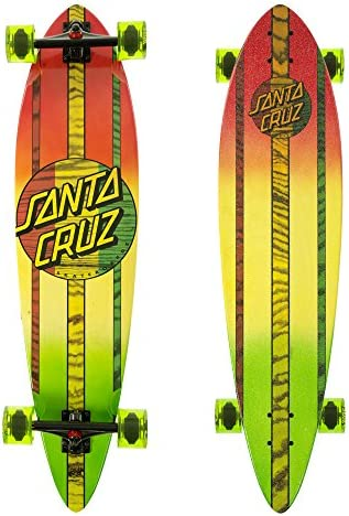Santa Cruz Mahaka Rasta Fade Pintail Cruzer Complete Skateboard, Assorted, 39.0in L x 9.58in W