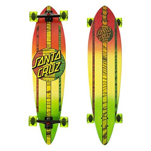 "Santa Cruz Mahaka Rasta Fade Pintail Cruzer Complete Skateboard, Assorted, 39.0in"" L x 9.58in"" W"