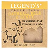 Honey Oatmeal Goat Milk Soap - 5 Oz Bar - Great For Sensitive Skin - Certified Cruelty Free