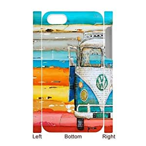 iPhone 4,4S Cover Case, DDdiy VW Bus Custom 3D Cover Case for iPhone 4,4S