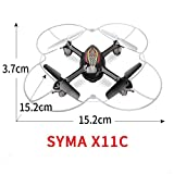 Syma-X11C-4-Channel-24Ghz-RC-Quadcopter-Drone-with-2MP-HD-Camera-LED-Lights-360-Degree-Eversion-Blade-Protector-Black