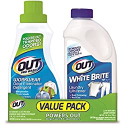 OUT Laundry Value Pack, 1 each- ProWash Odor Eliminator Detergent (22 fl. oz.) and White Brite Laundry Whitener (1 lb. 12 oz.)