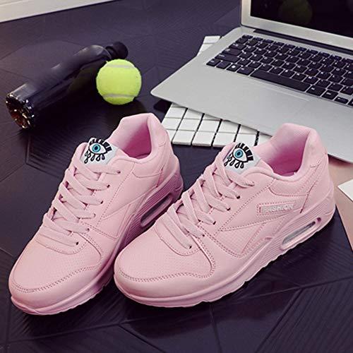 Outdoor Damen Freizeitschuhe Rosa Damen Lace Stiefel Milktea up Schuhe Schuh Sneaker Wanderschuhe schuhe Mode Damen Wohnungen 8qn0X