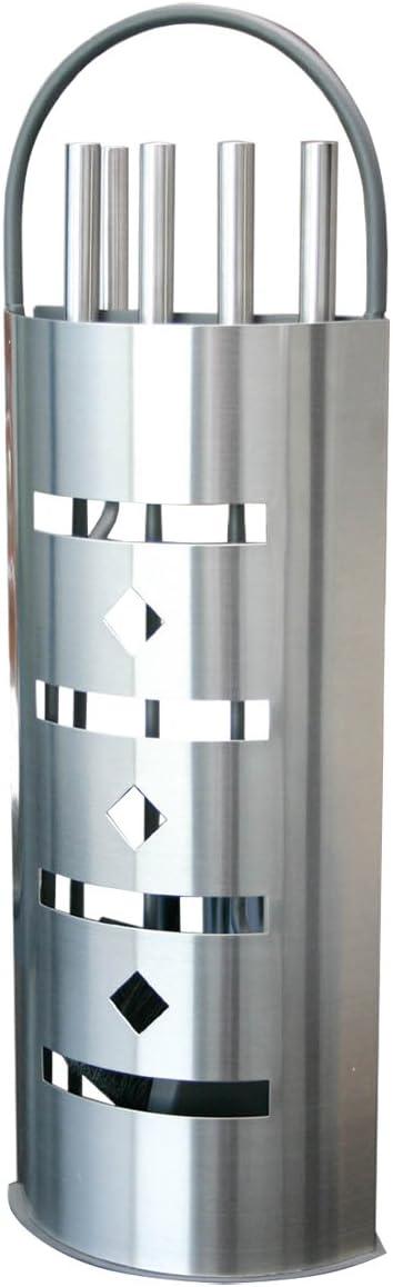 Juego para chimenea Alpertec de acero inoxidable, 1 pieza, satinado, 39021000