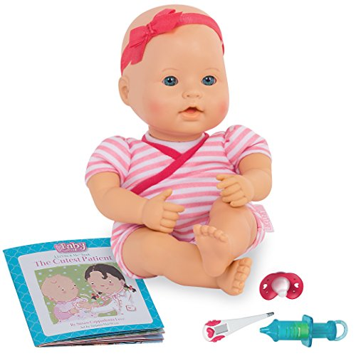 Baby Sweetheart by Battat - Medical Time 12-inch Soft-Body Newborn Baby Doll with Easy-to-Read Story Book and Baby Doll Accessories