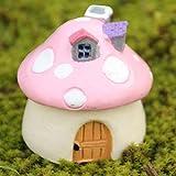 Miniature Fairy Garden Mushroom House Ornam…
