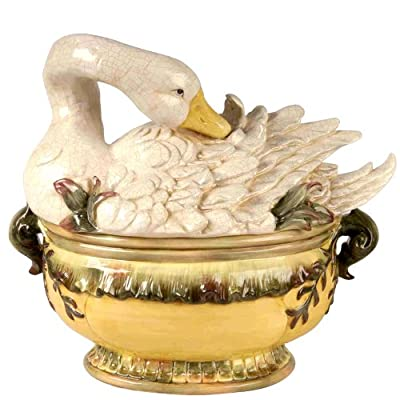 Kaldun and Bogle Wild Game Goose Tureen with Ladle, Multicolored
