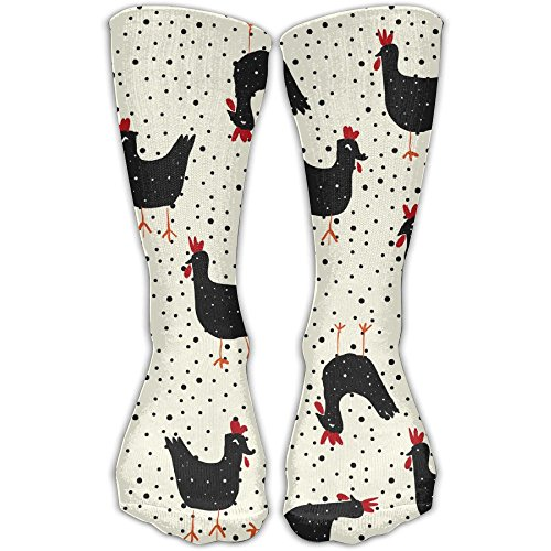 YUAN TING Farm Life Rooster Comfortable Long Socks Women & Men Athletic High Socks For Gym Hiking Running Home Stockings One Size ()