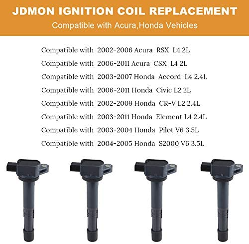 Ignition Coils Pack Compatible with 2006-2011 Honda Civic Si NOT ...